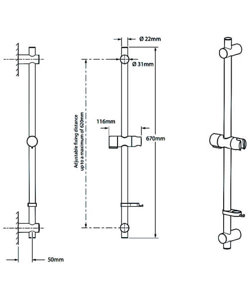 Technical drawing 50756 / TSKFPRO8000WC
