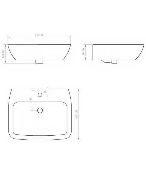 Technical drawing 59114 / BIQR28BAS55