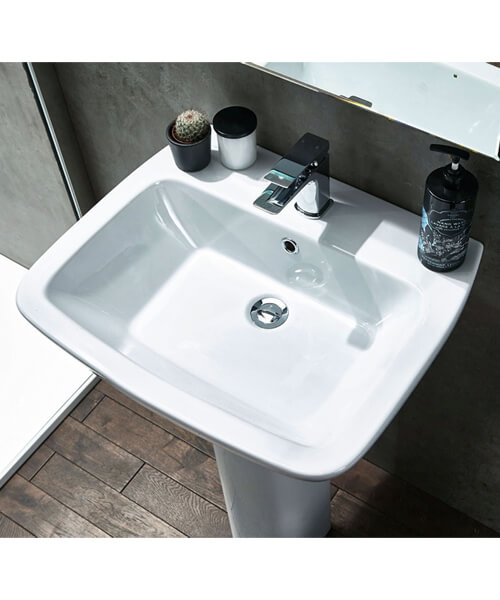 Additional image of Frontline Piccolo 570mm 1 Tap Hole Basin With Full Pedestal