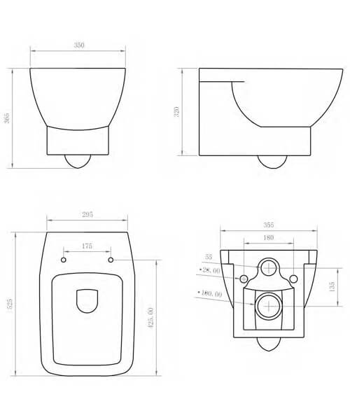 Technical drawing 59115 / BIQR28WH