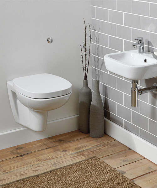 Frontline Petit 2 525mm Wall Hung WC With Soft Close Seat