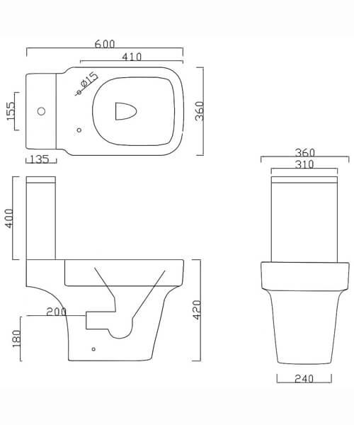 Technical drawing 59132 / BIQR6PAN