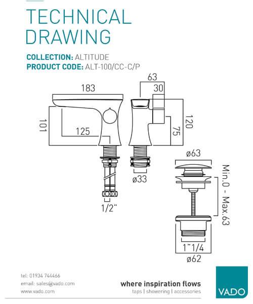 Technical drawing 32111 / ALT-100/CC-C/P