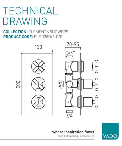 Technical drawing 30360 / ELE-128D/2-C/P