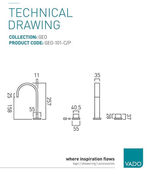 Technical drawing 24671 / GEO-101-C/P