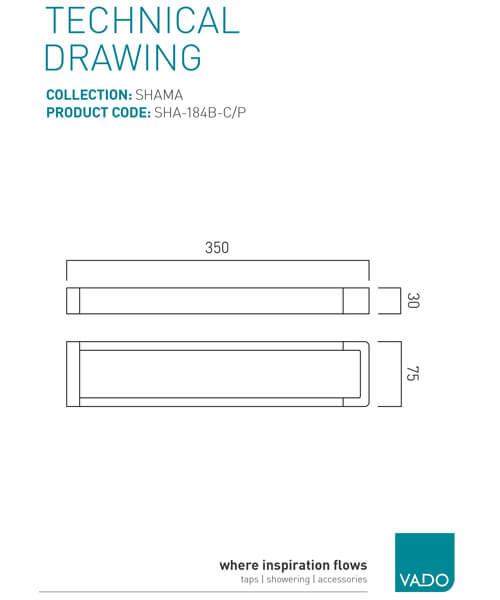 Technical drawing 47118 / SHA-184B-C/P