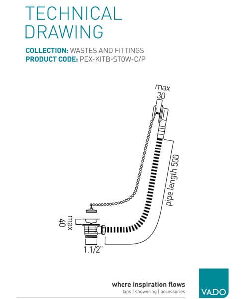 Technical drawing 27948 / PEX-KITB-STOW-C/P