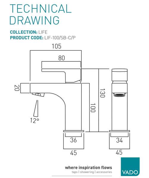 Technical drawing 24702 / LIF-100/SB-C/P