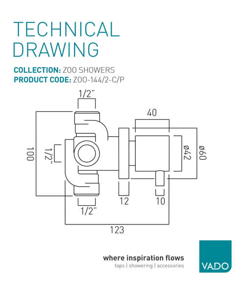 Technical drawing 30413 / ZOO-144/2-C/P