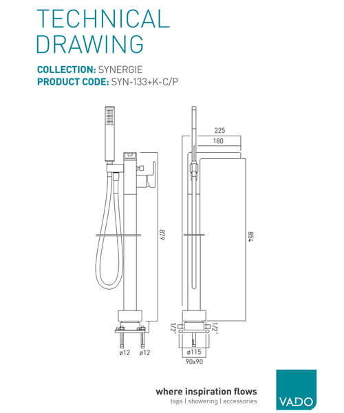 Technical drawing 24531 / SYN-133+K-C/P