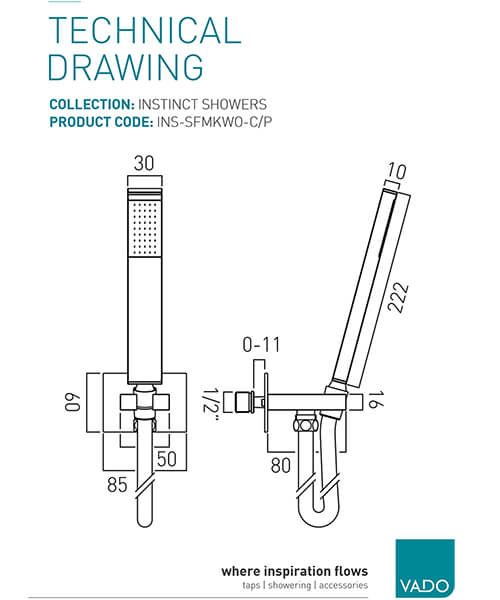 Technical drawing 19681 / INS-SFMKWO-C/P