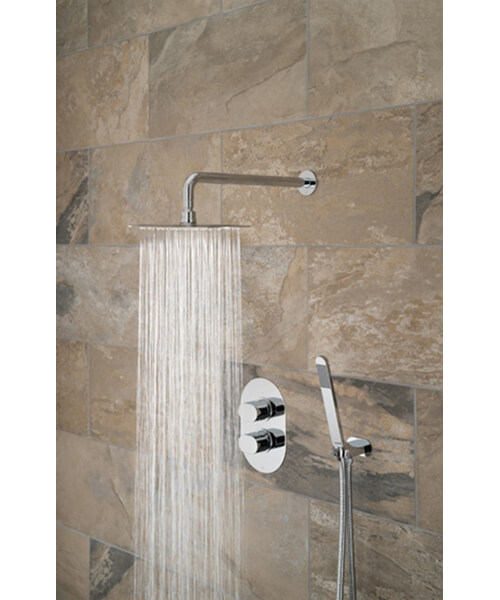 Additional image of Vado Life Thermostatic Shower Valve With Shower Head And Arm