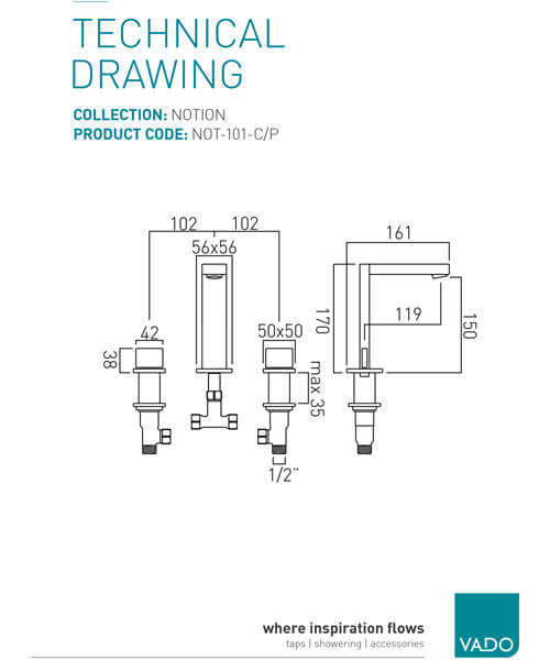 Technical drawing 24620 / NOT-101-C/P