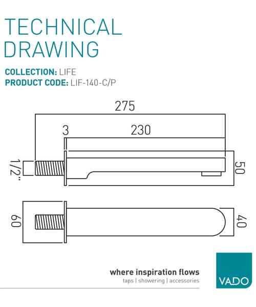 Technical drawing 24717 / LIF-140-C/P