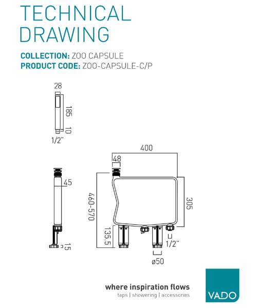 Technical drawing 57562 / ZOO-CAPSULE-C/P