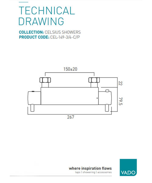 Technical drawing 30364 / CEL-149-3/4-C/P