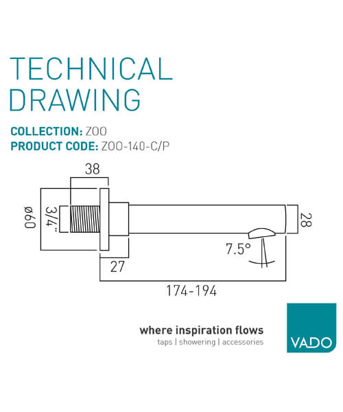 Technical drawing 24766 / ZOO-140-C/P