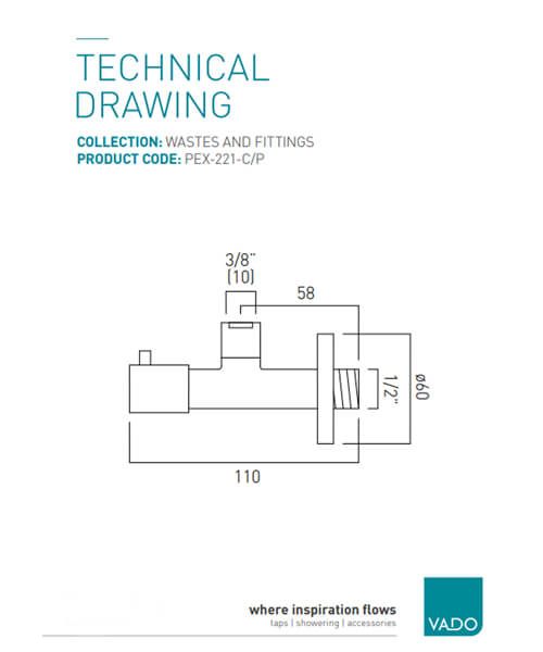 Technical drawing 30433 / PEX-221-C/P