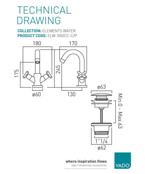 Technical drawing 25142 / ELW-100/CC-C/P