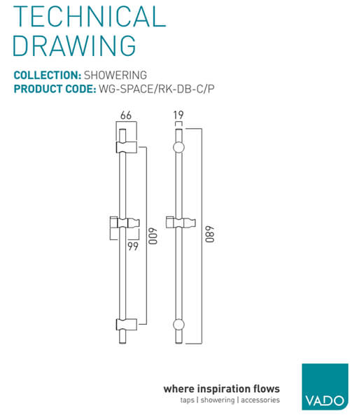 Technical drawing 57561 / WG-SPACE/RK-DB-C/P