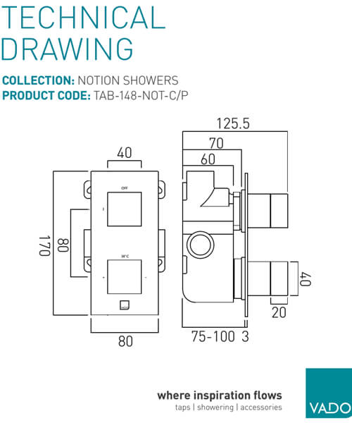 Technical drawing 34302 / TAB-148-NOT-C/P