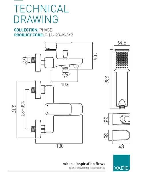 Technical drawing 24774 / PHA-123+K-C/P