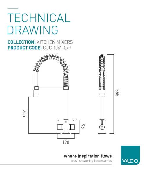 Technical drawing 25230 / CUC-1061-C/P