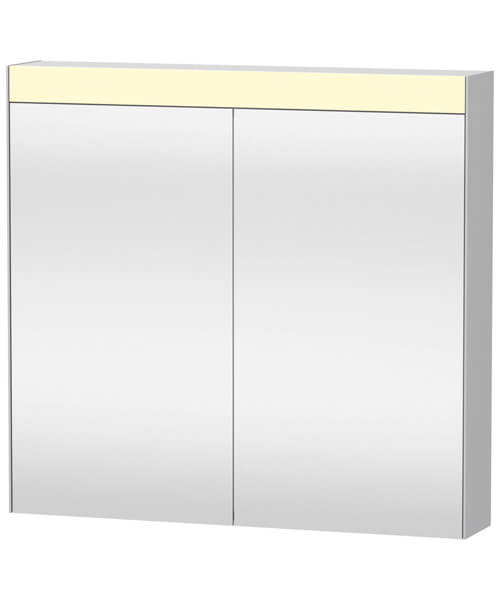 Duravit 760mm Height Double Mirror Door Cabinet With On-Off Function