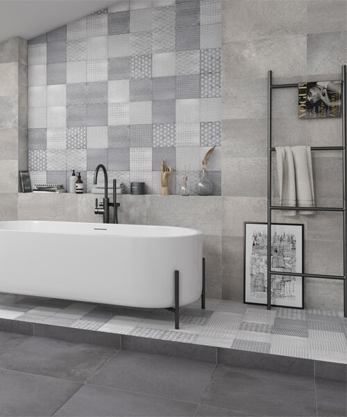 Dune Minimal Chic Factory Flavin Fumo 20 x 20cm Floor And Wall Tile
