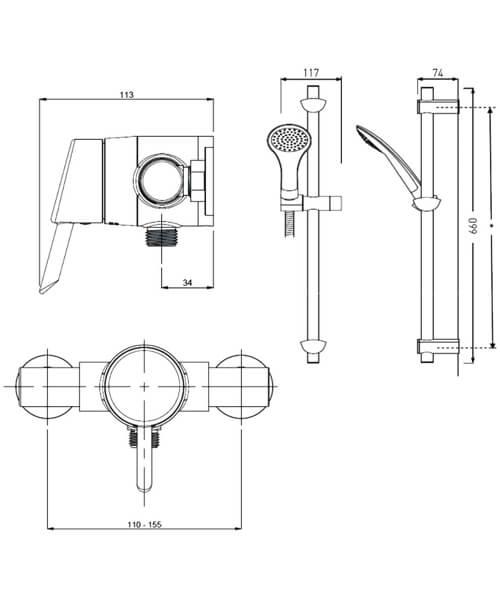 Technical drawing 4859 / AE SHXAR C