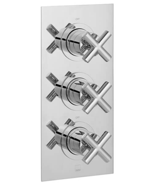 Vado Elements 2 Outlet Thermostatic Shower Valve With 3 Crosshead Handle