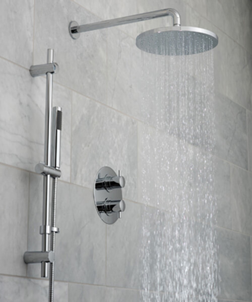 Additional image of Vado Celsius Thermostatic Shower Valve With Slide Rail Kit