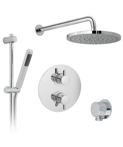 Vado Celsius Thermostatic Shower Valve With Slide Rail Kit