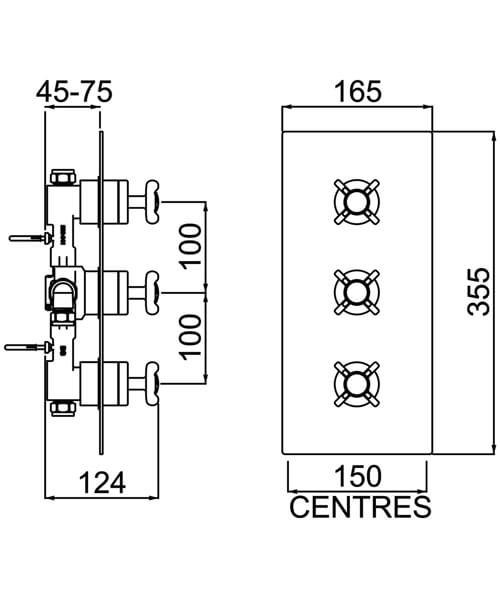 Technical drawing 44628 / N2 SHC3STP C
