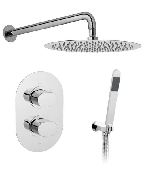 Vado Life Thermostatic Shower Valve With Shower Head And Arm