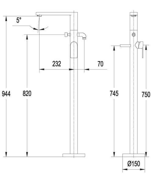 Technical drawing 60002 / S909-1500-1