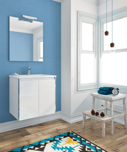 Frontline Royo Valencia 600mm 2 Door Wall Hung Vanity Unit With Basin