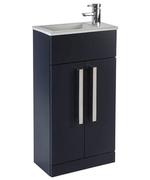 Additional image of Frontline Aquatrend 2 Door Floor Standing Cloakroom Unit And Basin