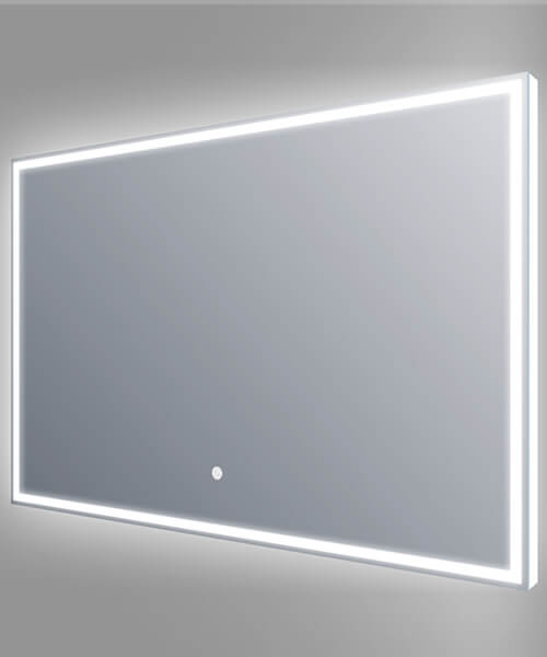 Frontline Luxe 800 x 600mm Aluminium Framed LED Mirror With Touch Sensor And Demister