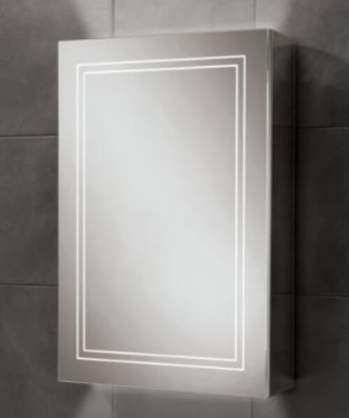 HiB Edge 50 Single Door LED Illuminated Cabinet 500 x 700mm