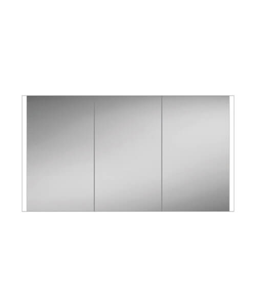 HIB Paragon 120 LED Illuminated Triple Door 1264 x 700mm Aluminium Mirror Cabinet