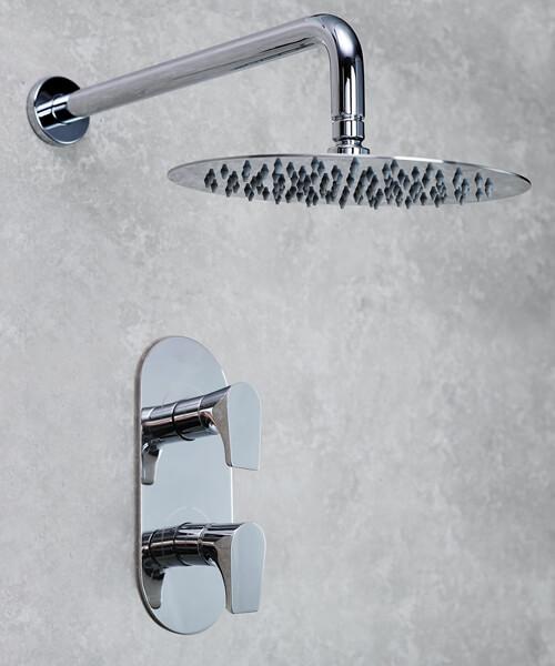 Bristan Hourglass Chrome Finish Fixed Head Shower Pack