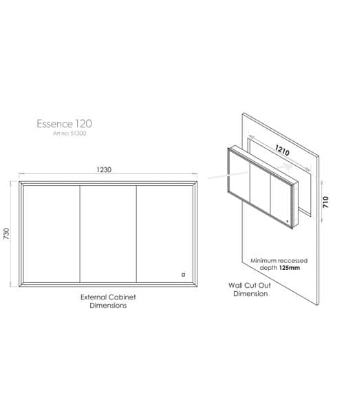Technical drawing 60525 / 51300