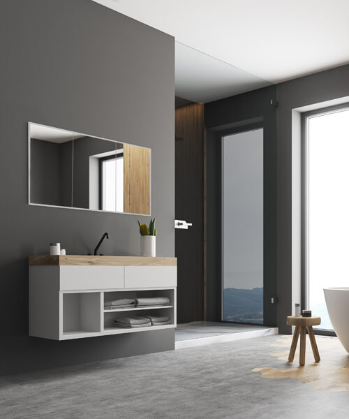 HIB Essence 120 Triple Door 1230 x 730mm Recessed Mirror Cabinet