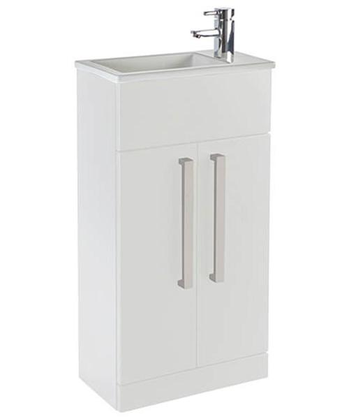 Frontline Aquatrend 2 Door Floor Standing Cloakroom Unit And Basin