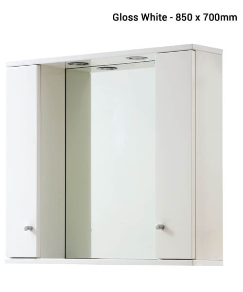 Frontline Aquapure Illuminated Double Mirrored Cabinet