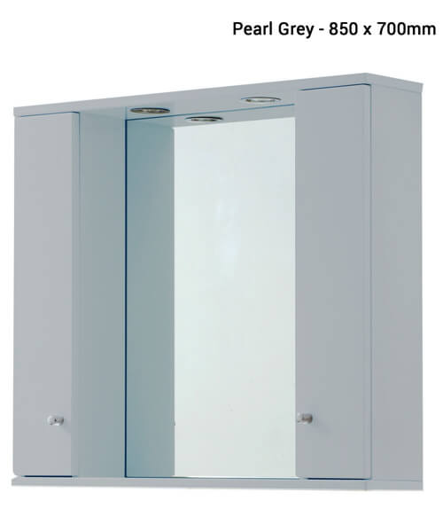 Additional image of Frontline Aquapure Illuminated Double Mirrored Cabinet