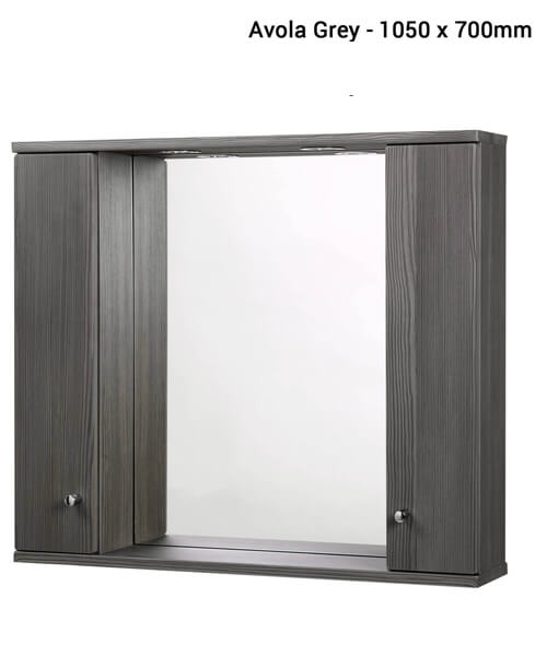 Alternate image of Frontline Aquapure Illuminated Double Mirrored Cabinet