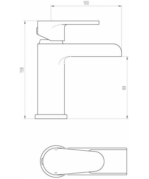 Technical drawing 60156 / BIQBAL03