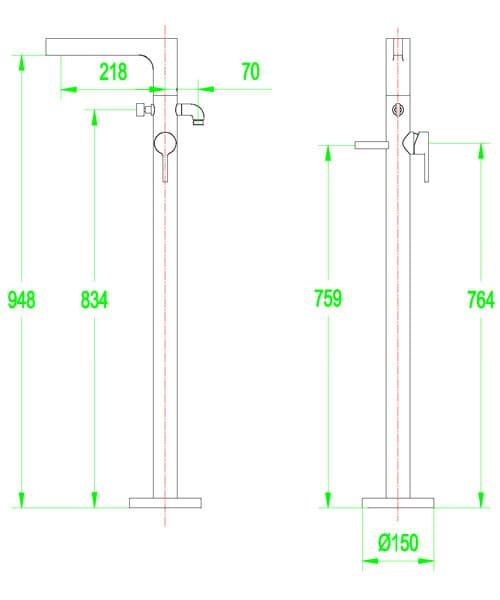 Technical drawing 60155 / S801-1500
